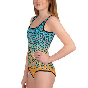 Trout Print Youth Swim Suit