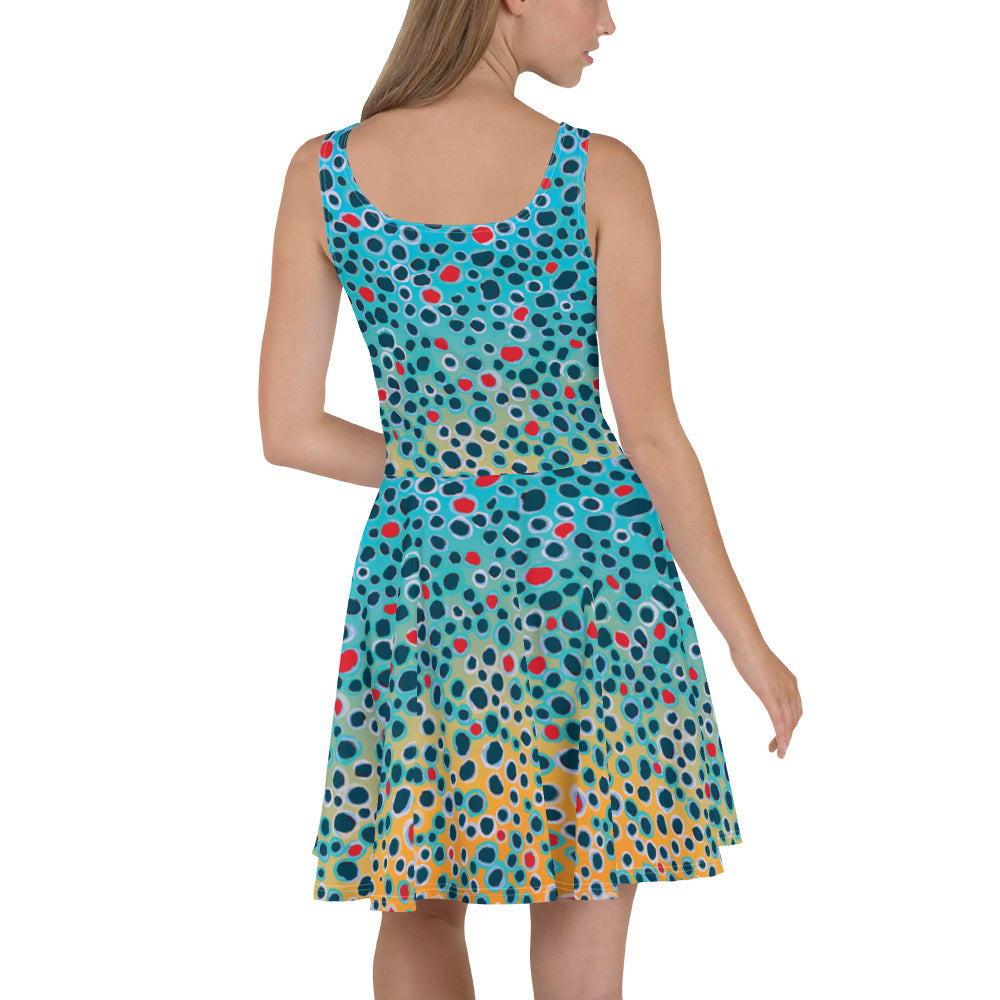 Yellow Sally Trout Print Dress