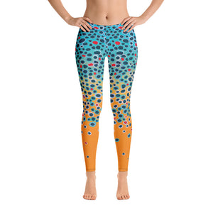 Fishing leggings trout print