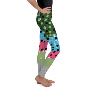 Rainbow Trout Girl's Youth Leggings (8-20)