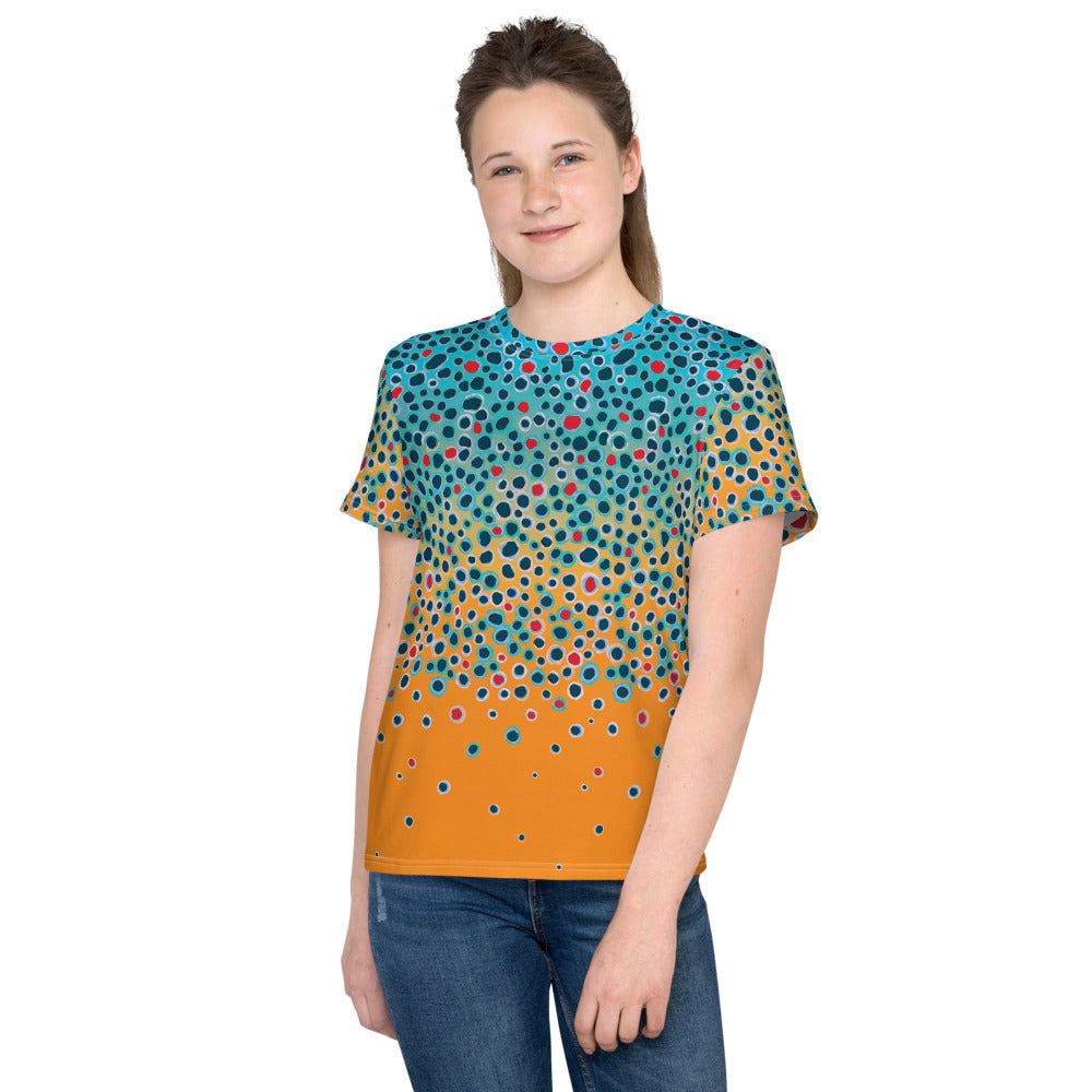 Girl's Trout Print T (size 8-20)