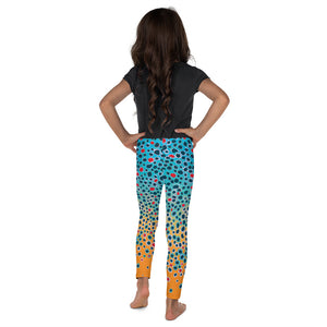 Girl Brown Trout Print Leggings (size 2T-7)