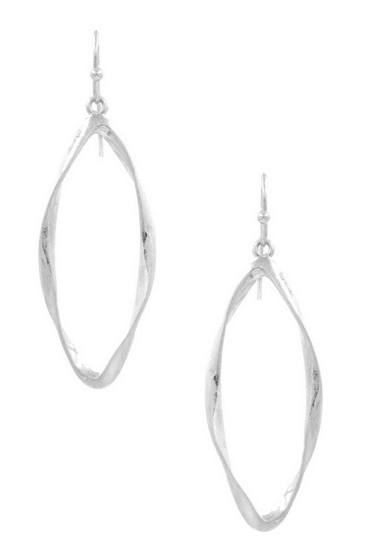 Worn Silver Drop Earrings