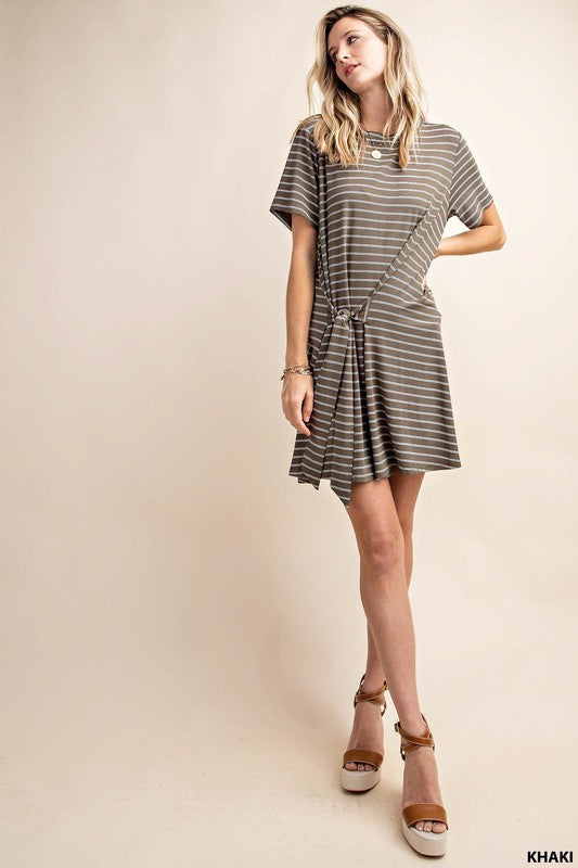Tied Stripe Dress