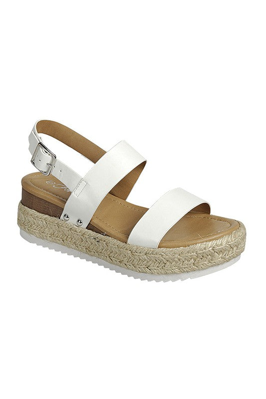 White Platfrom Sandals