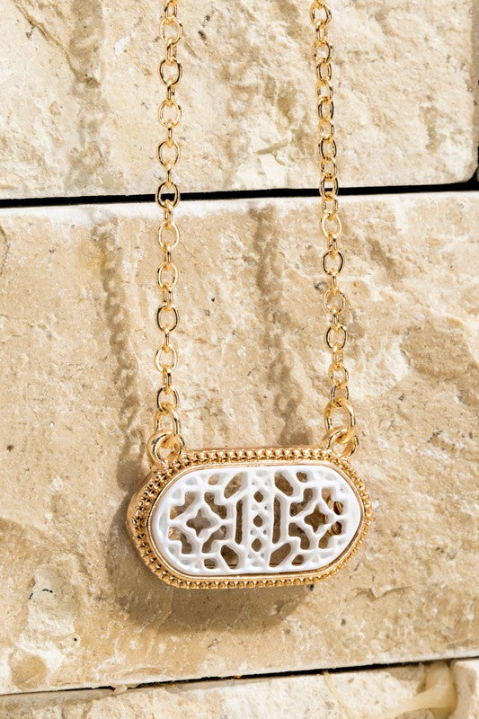 Filigree Oval Necklace