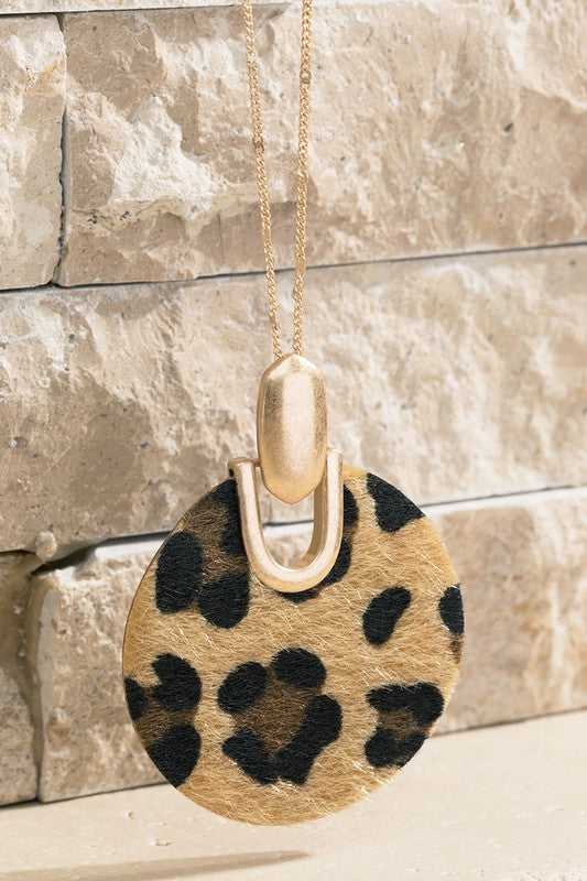 Leather Leopard Necklace