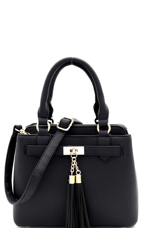Tassel Satchel Purse