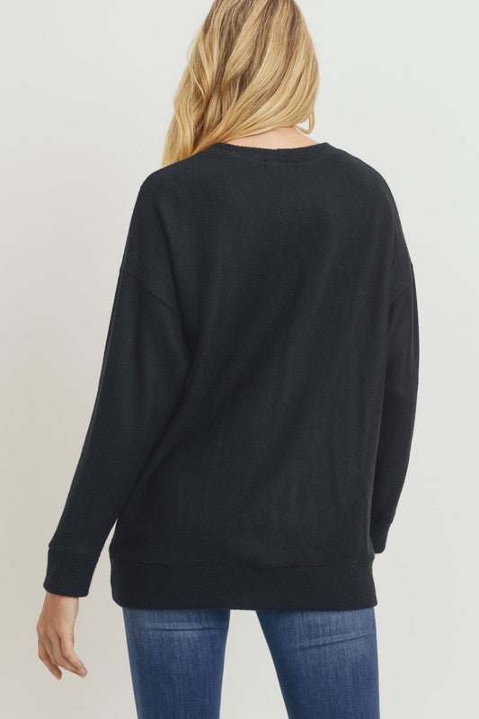 Snowed In Pullover Top