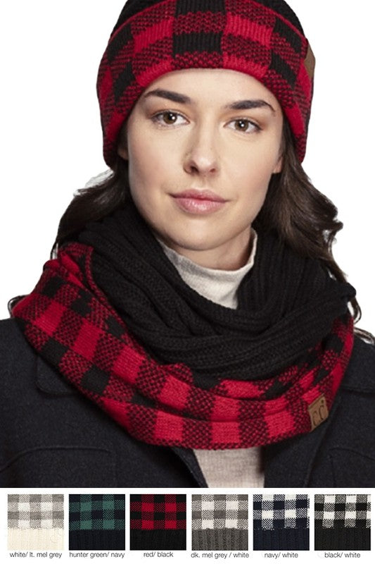 C.C. Buffalo Plaid Infinity Scarf