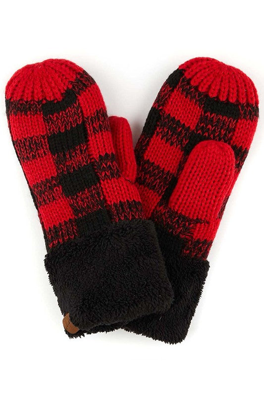 C.C. Buffalo Plaid Gloves