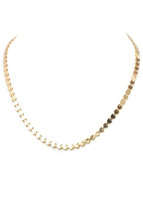 Multi Disc Necklace-Gold