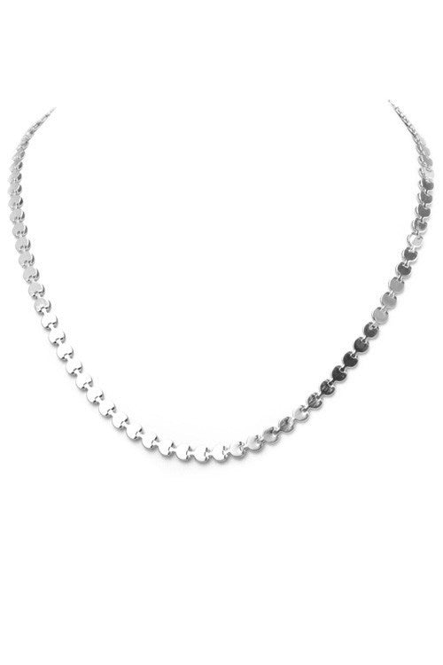 Multi Disc Necklace-Silver