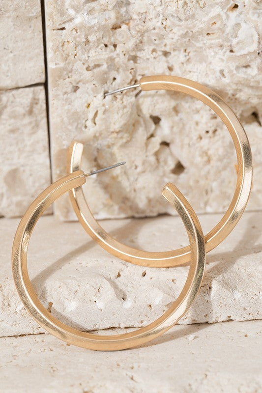 Diamond Edge Hoops