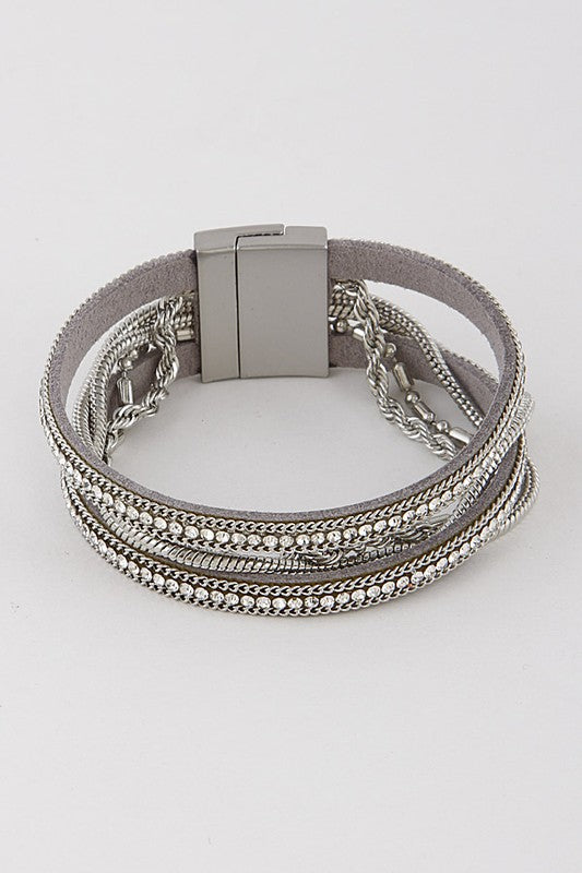 Multi Layered Silver Bracelet