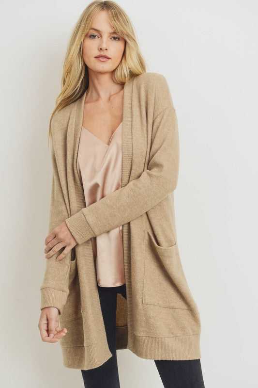 Taupe Pocket Cardigan