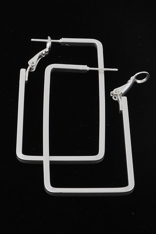 Rectangle Hoop Earrings