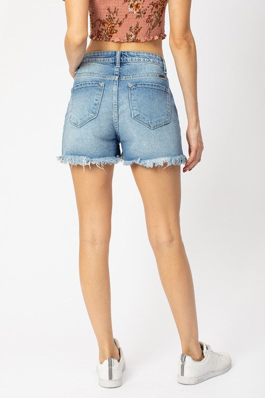 Lilly Denim Shorts-KanCan