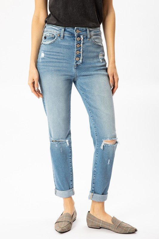 Jennifer Distressed Mom Jeans