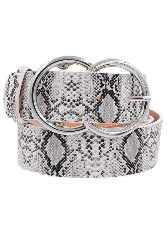 Silver Double Ring Belt