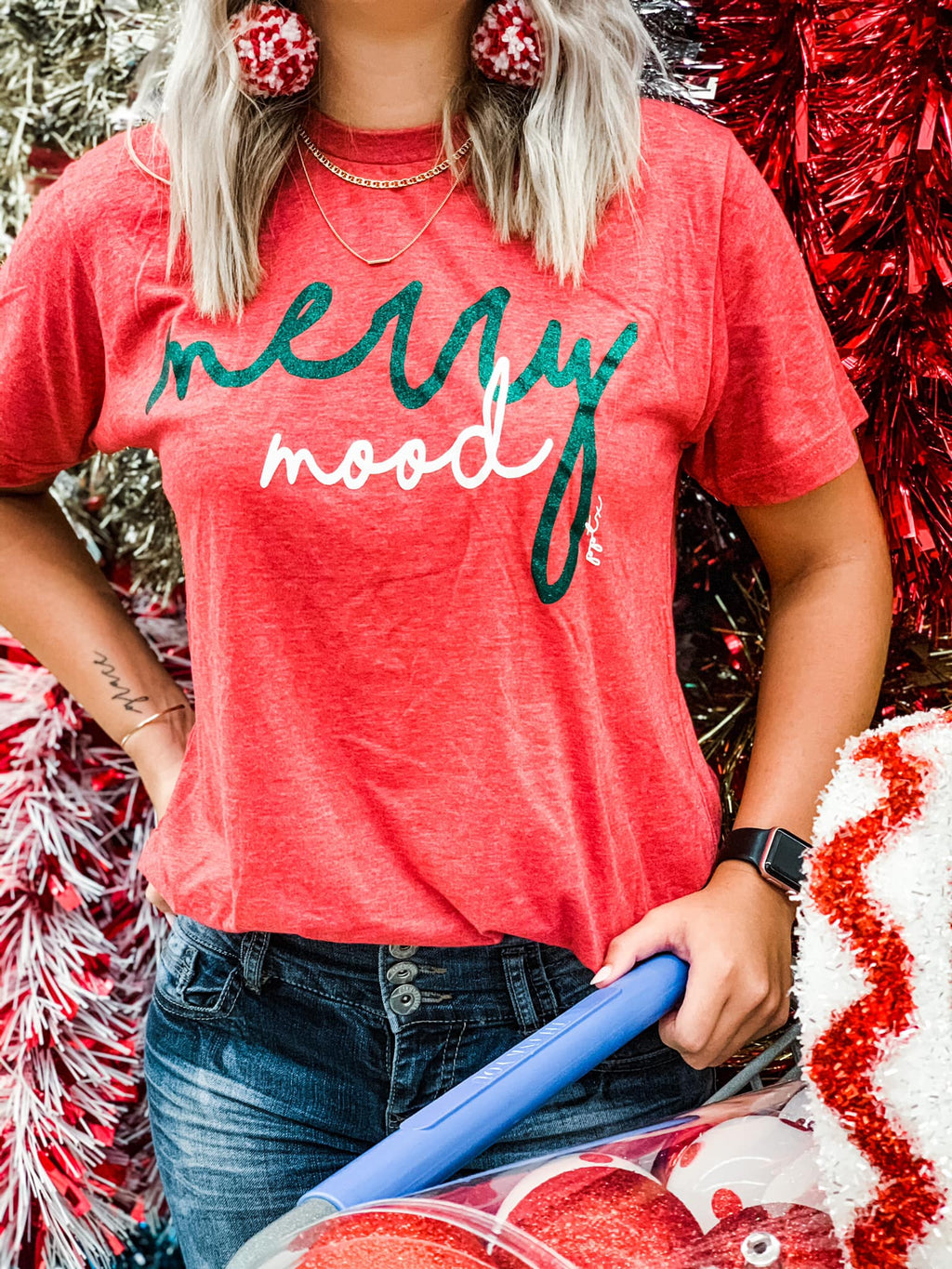 Merry Mood Christmas Tee