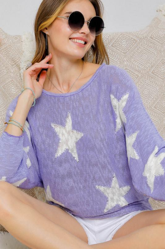 Lavender Star Sweater