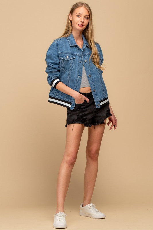 Varsity Denim Jacket
