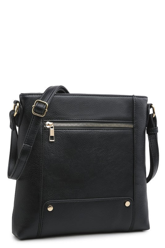 Front Zip Crossbody Bag