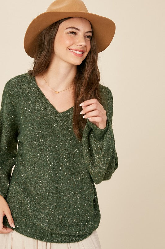 Gold Sequin Sweater