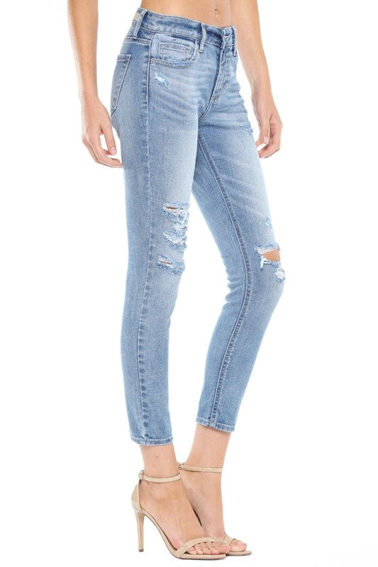 Bella Distressed Skinny Jeans-Cello