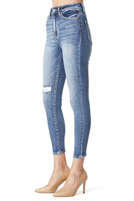 Courtney Distressed Skinny Jeans-KanCan