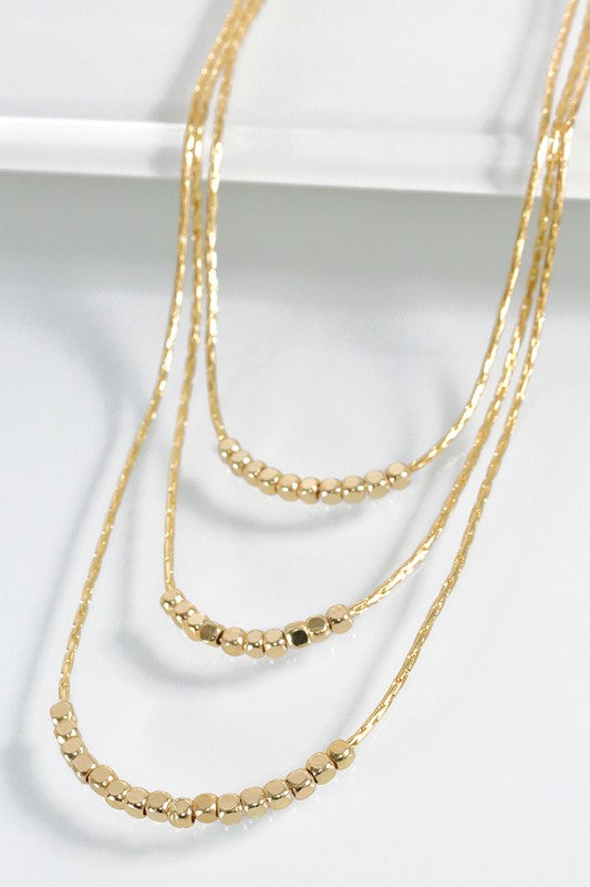 Gold Three Strand Necklace