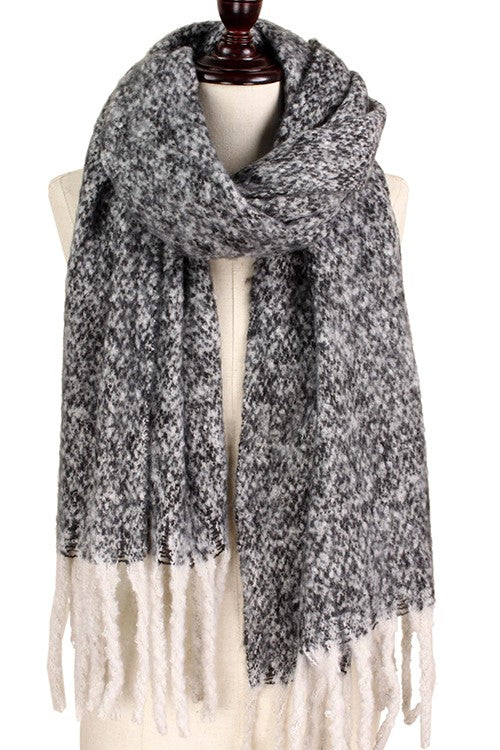 Black Two-Tone Scarf