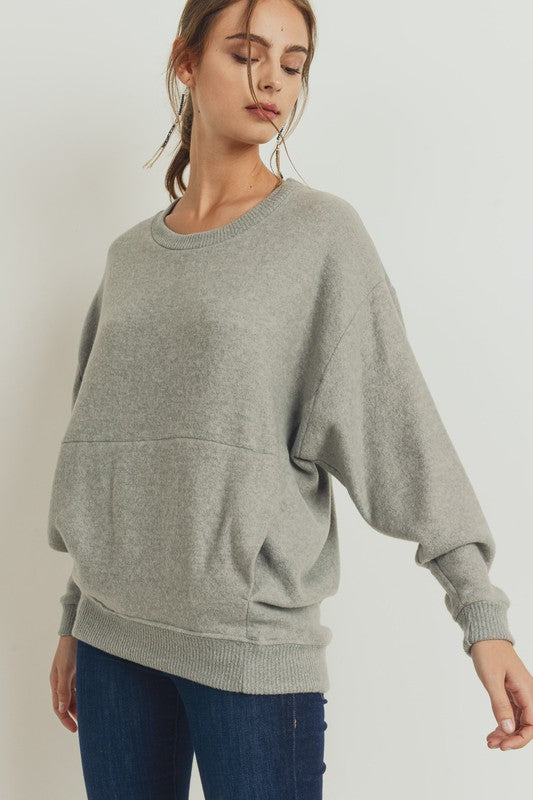 Brushed Knit Pullover Top