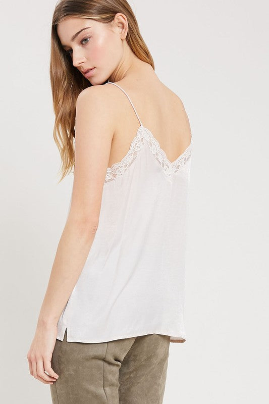 Lace Trimmed Cami Top