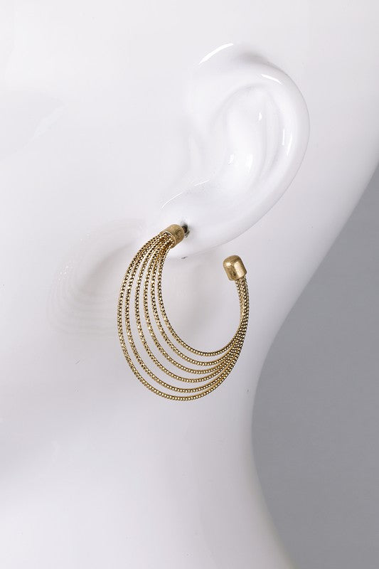 Intricate Layered Hoop Earrings