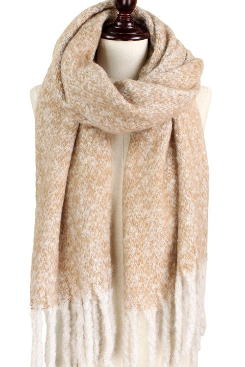 Beige Two-Tone Scarf