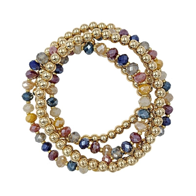 Crystal and Gold Bead Set