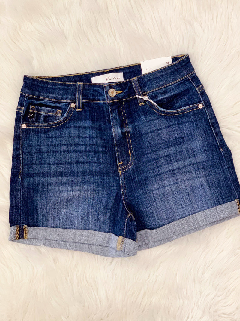 Alexis High Rise Denim Shorts-KanCan