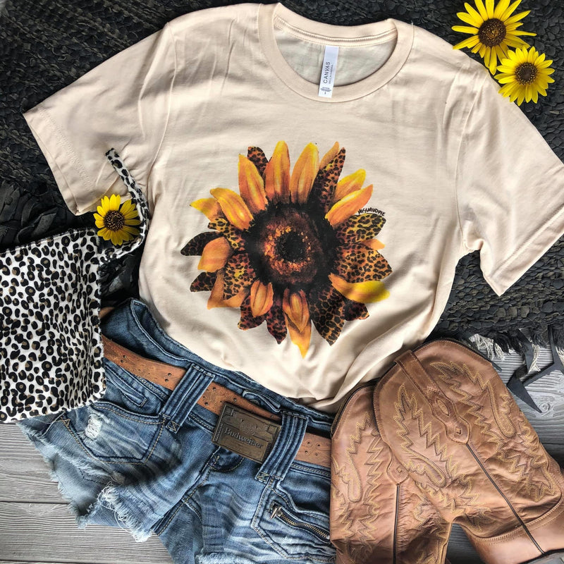 Leopard Sunflower Tee