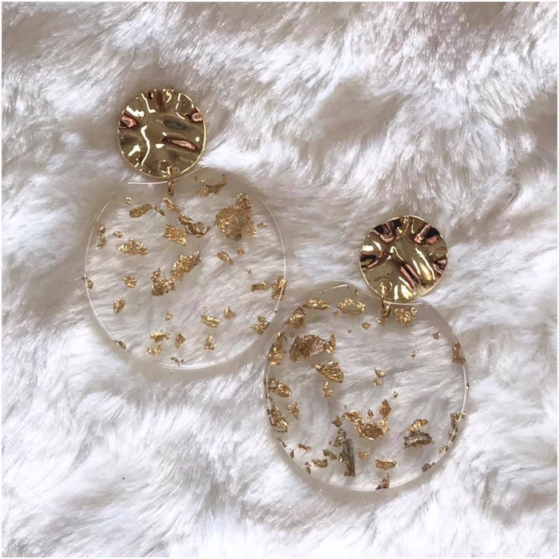 Gold Acrylic Earrings