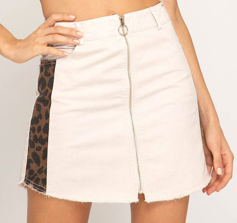 Leopard Stripe Skirt