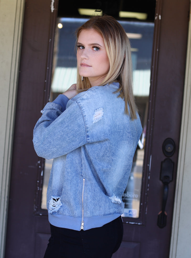 Denim Sweatshirt