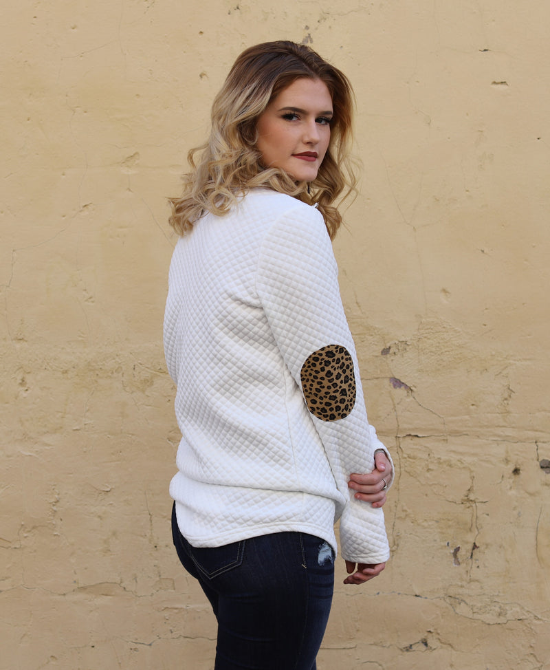 Leopard Quilted Pullover
