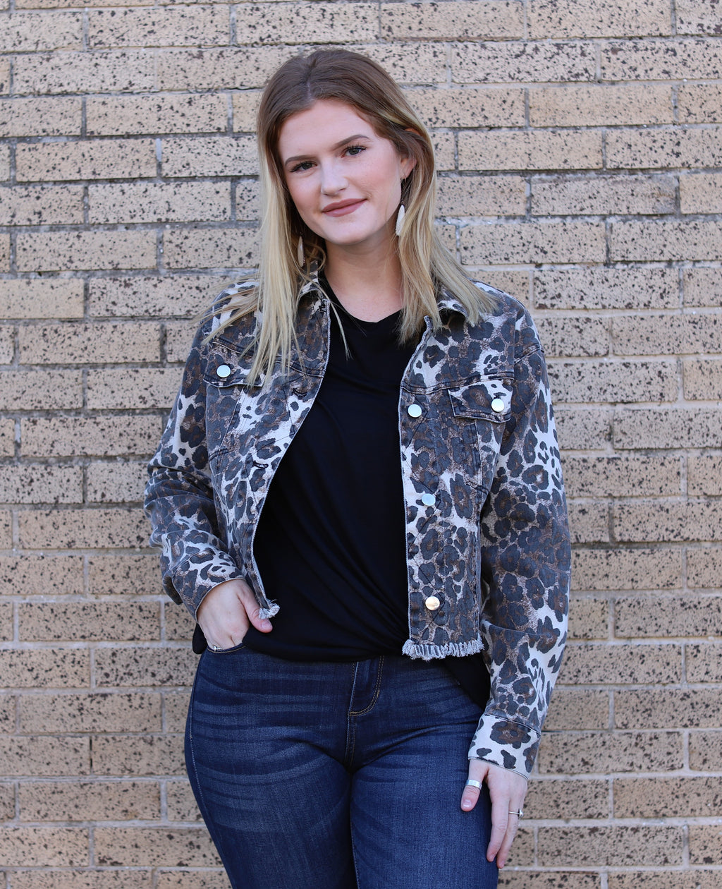 Cropped Leopard Jacket