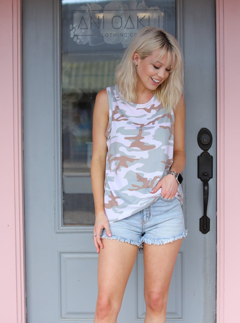 Casual Camo Tank Top