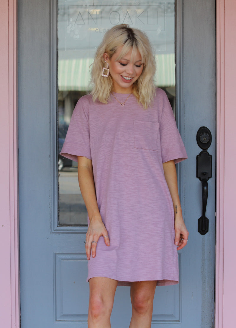 Mauve T-Shirt Dress