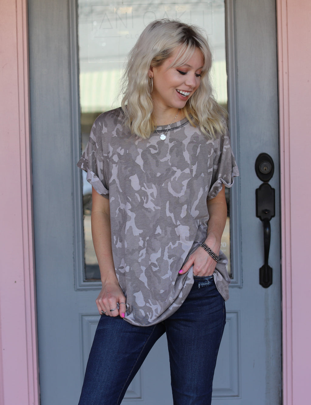 The Chloe Camo Top