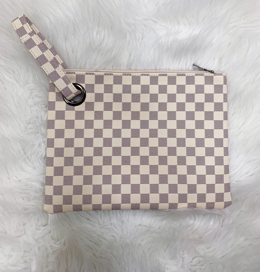 Tory Checkered Clutch