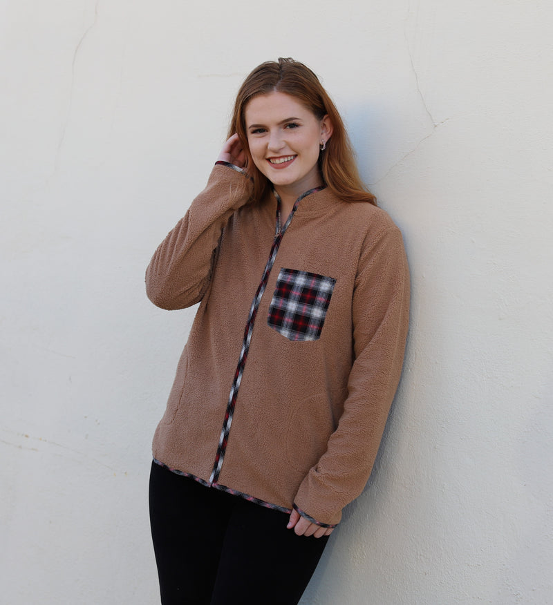 Camel Plaid Jacket
